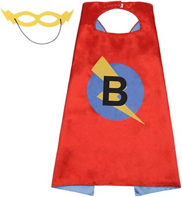 Intial Letter Name Superhero Cape