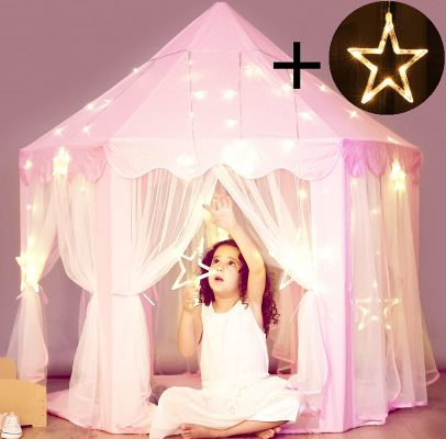 Princess Castle Tent With Star Lights String