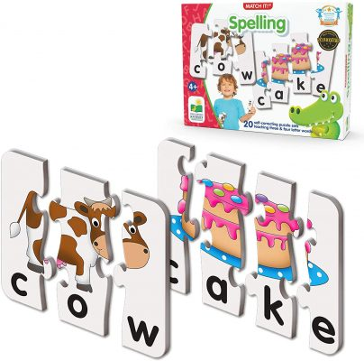 The Learning Journey: Match It! Self-Correcting Spelling Puzzle