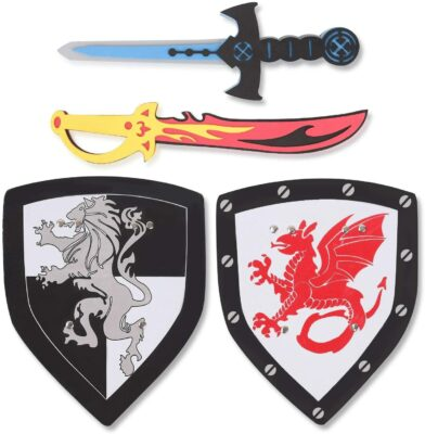 Liberty Imports Dual Foam Sword and Shield Playset
